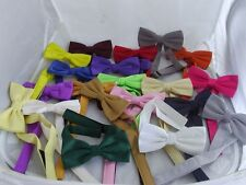 Superb Quality-Ready Pre-tied Bow tie Over 50 Colours  *Free*  P&P 2UK 1st Class