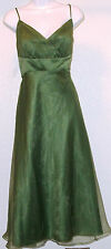 NWOT Genuine ALFRED ANGELO halter clover green bridesmaid dress, style # 6556