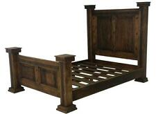 Dark Rustic Bed King Queen Rustic Western Cabin Lodge Real Solid Wood