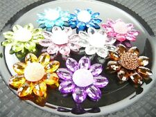 Acrylic Crystal Flower Table Scatter, 1-3/4-inch, 6-pack