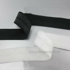 "10Yds 1 ""Black/White Foldover FOE Elastic Trim 25mm Package Sideband m"