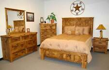 Reclaimed Natural Bedroom Set, 5 piece, Bed, Dresser, Chest, Night Stand
