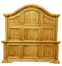 Rustic Crown Bed, King Or Queen sizes, side rails and Slats Included! Free Ship.