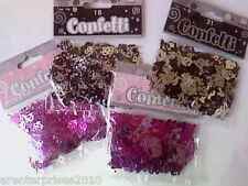 3 x 14g pack of 18th or 21st Table Confetti - Pink or Black and Silver