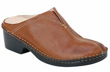 Vegace Women Clog Brown Tan Nappa Leather Shoe Spring Loafer Lexi Step Comfort