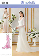 PATTERN SIMPLICITY Elegant Wedding Dress Bridesmaid Gown 2 Styles in 1 1909 New