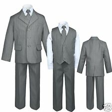 New Baby, Toddler & Boy Easter Formal Wedding Party Tuxedo Suit Gray S-16,18,20