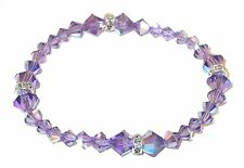 TANZANITE PURPLE Crystal Bracelet Stretch-on Swarovski Elements