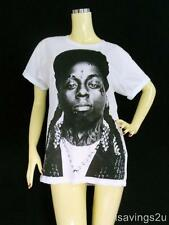 LIL WAYNE Hip Hop T-shirt, RAP Rapper ROCK, White S M & L Young MONEY Free Weezy