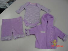 NWT Disney Baby 3 pc Lavender Outfit Infant Girls Pooh Piglet NEW Unused Child