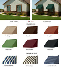 Window Awnings Contemporary Style with Straight Valence in 7 Colors & 3 Stripes