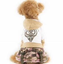 S293P Doggie Hoodie Dresses,Pet Hoodie,Dog clothes,Pet Clothing,Dog Dresses