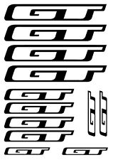12 x GT BIKE DECALS - SET OF 12 BICYCLE FRAME REPLACEMENT VINYL STICKERS