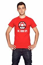 OH GROW UP T-shirt nintendo double size video game mushroom super mario S-XXL