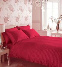 Sale 1000TC 100%Egyptian Cotton UK Bedding Collection Stripe Red All UK Sizes