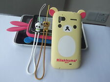 ★★★ KITTY CAT BEAR BOWKNOT RUBBER SILICONE CASE COVER ★★★ HTC G14 SENSATION ★★★
