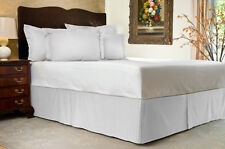 Sale 1000TC 100%Egyptian Cotton Tailored Bed Skirt White Stripe Choose Size&Drop