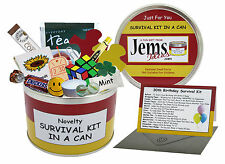 Happy 30th Birthday Survival Kit In A Can. Novelty Gift - Fun Present / Card