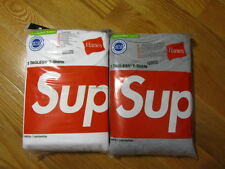 Supreme 2011 Box Logo Hanes Pack of 3 Tee Shirts White or Gray S M L XL