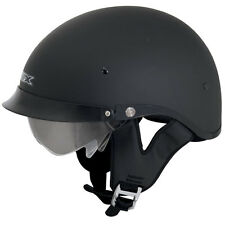 AFX FX-200 DOT APPROVED BEANIE HALF MOTORCYCLE HELMET DUAL DROP DOWN SUN VISOR