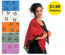 CHOOSE - Cotton OM Scarf - Spiritual Meditation Shawls, Wraps - (CS023)