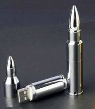 silvery Metal bullet  8GB 16GB USB Memory Stick Flash Pen Drive A9