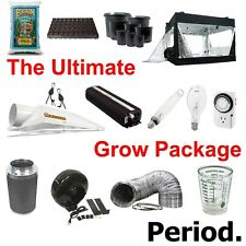 "COMPLETE 2 1000W 8"" Grow Set Up Tent+Soil+Pots+Hoods+Bulbs+Timer+Fan+Duct+Filter"
