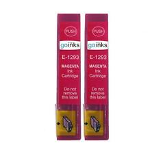 2 Magenta Ink Cartridges non-OEM to replace T1293 (Apple) Compatible for Printer