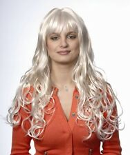 ANDREA WIG BLACK BROWN BLONDE SEXY MODEL WOMEN LONG SOFT CURLS W/ LAYERS & BANGS