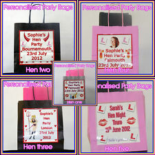 Personalised HEN Night Party bag Lots of colours and designs High gloss printing