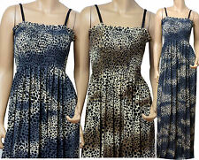 Strappy Summer Maxi Dress UK Size 10 - 26 ( CHTA ) In Different Lengths