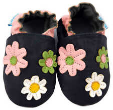 MINIFEET SOFT LEATHER BABY / PRAM SHOES 0-6,6-12,12-18,18-24 Mth & 2-3Yr FLOWERS