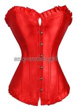 Red Satin Size S-6XL Corset Sexy Bustier Special Designer NEW A106_red