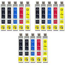 15 Ink Cartridges non-OEM to replace T0715 & T0711 Compatible (3x Set + Black)