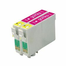 2 Magenta Ink Cartridges non-OEM to replace T0803 (TO803) Compatible for Printer
