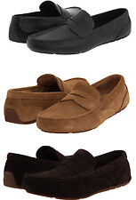 Rockport Mens Greenbrook Black or Tan or Brown Driving Shoes Loafers Drivers
