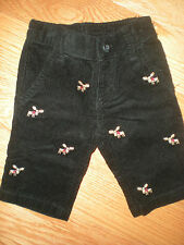 Gymboree NWT Baby Boy Moose  Holiday Tradition Embroiderd Corduroy Pant