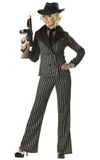 Sexy 1920's Gangster Lady Mafia Adult Halloween Costume 01089