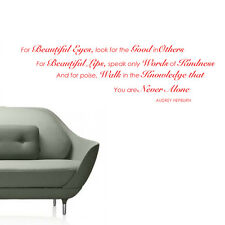 AUDREY HEPBURN LOOK FOR THE GOOD IN OTHERS Wall Quotes Words Wall Stickers W32