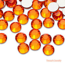 Orange 2-7mm Crystal Glass - Bling Flatback Rhinestone Scrapbook Nail Craft Art