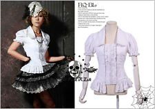 Lolita Goth Visual Royal Medieval layer-look paisley stripe court blouse 71039 W