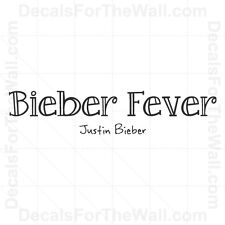 Justin Bieber Fever Girl Wall Decal Vinyl Art Sticker Quote Decor Decoration B61
