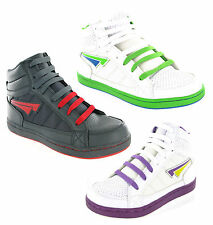 New Boys Girls Mercury Hi Top Baseball Ankle Boots Skate Trainers Size 13-6 UK