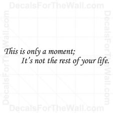 This is Only a Moment it's Not the Rest of Your Life Wall Decal Vinyl Art IN29
