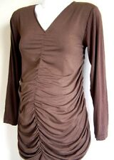 Brand NEW Designer Maternity ~ Brown Cinch Front Knit Top ~ S,L,XL ~ $34.99 MRP