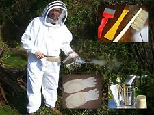 BUZZ Beekeepers bee Suit , Gloves Large Stainless Smoker and Basic tools