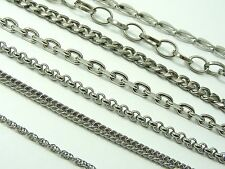 ~Custom Made~ STAINLESS STEEL Wave Link CHAIN Choker NECKLACE  ~Various Style~