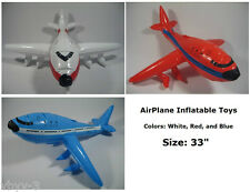 "AIRPLANE Jumbo Jet Flying INFLATABLE Toys Blow-Up Party Favor Decor 33"" -USA"