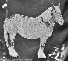 Belgian Draft Horse Laser Etched Glasses- CHOOSE your glass style