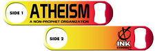 Bartender Bottle Opener: Atheism + Add Name or Text FREE!